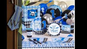 1st Birthday Party Decorations Homemade Simple Boys 1st Birthday Party Decoration Youtube