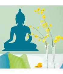 stickerskart blue vinyl pooja room living area bedroom peaceful