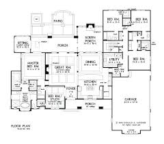 single story 5 bedroom house plans single story house plans 2 fabulous floor plan for d one
