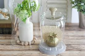 create a diy glass display cloche with knob