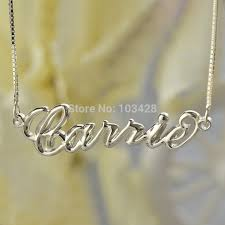 3d nameplate necklace personalized 3d carrie name necklaces 3d nameplate pendant 3d
