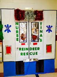 christmas door decorating contest at our the kids loved it