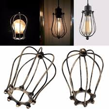 decorative light bulb covers vintage iron wire bulb cage lshades hanging l holder guard