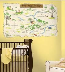 Pinner said Neutral yellow baby nursery room with a Winnie the