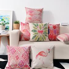 Flamingo Home Decor Aliexpress Com Buy Modern Nordic Art Pink Pillow Creative