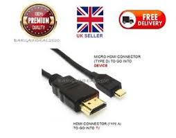 android phone to hdmi premium micro hdmi to standard hdmi cable lead for most android