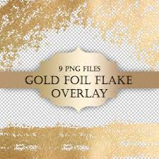gold foil flake digital clip art overlay gold foil glitter