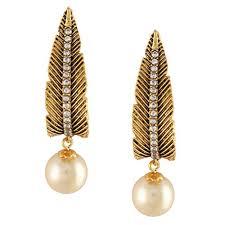 karigari earrings karigari fashion jewels golden earrings buy collections