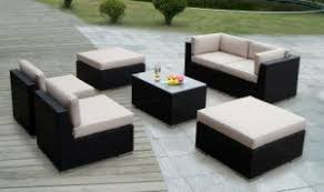 Outdoor Modern Patio Furniture Ohana Outdoor All Weather Wicker 7 Patio Furniture Set