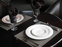 decorations placemats for round table for awesome dining