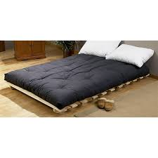 Queen Bed Frame And Mattress Set Awesome Queen Futon Bed With Black Mattress And 2 White Cushions