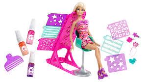 barbie hairtastic colour design doll byrnes online