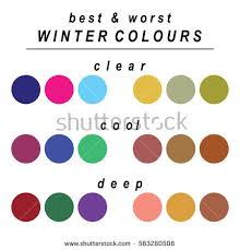 worst colors stock vector seasonal color analysis palette stock vector hd