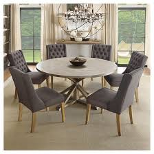 Round Kitchen Table Sets For 8 by Sierra Round Dining Table Wood Brown Inspire Q Target