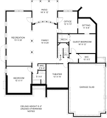 colonial house plan with 4 bedrooms and 3 5 baths plan 5989