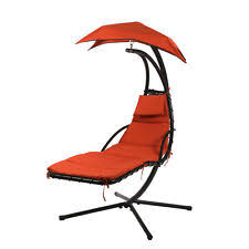 Hanging Chaise Lounge Chair Hammock Swing Chair Stand Ebay