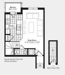 Typical Brownstone Floor Plan The Brownstones At Westown At 2277 Sheppard Avenue West Toronto