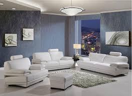 New White  Modern White Leather Living Room Set Helkkcom - White leather living room set