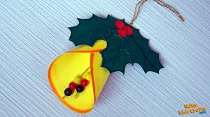 how to make a christmas bell decoration youtube