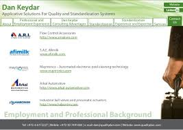 dan keydar applicative solutions for quality and standardization sys u2026