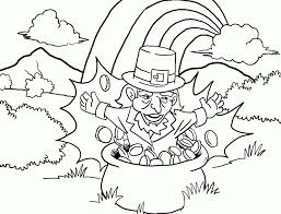 pot of gold leprechaun coloring home