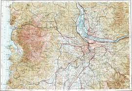 Beaverton Oregon Map by Download Topographic Map In Area Of Portland Beaverton Gresham