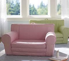 Sofa For Kids Room Light Pink Mini Dot Fold Out Anywhere Lounger Pottery Barn Kids