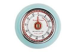 minuteur de cuisine eddingtons magnétique style rétro minuteur cuisine bleu 55 min