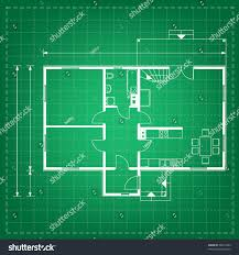 vector illustration house project house blueprint stock vector