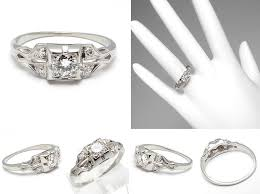 Square Wedding Rings by Square Diamond Antique Wedding Rings The Wedding Specialiststhe