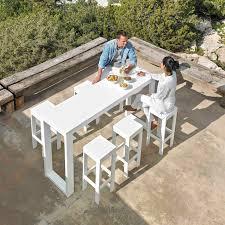 contemporary high bar table polyethylene thermo lacquered