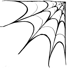 halloween clipart spiderweb pencil and in color halloween