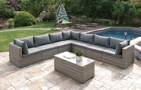 jb patio wicker 8 piece sectional seating group set u0026 reviews