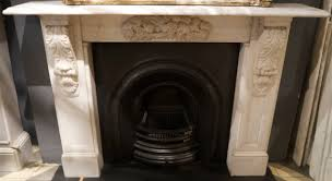 antique victorian carved statuary white marble corbel fireplace