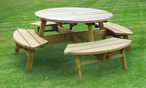 round plastic picnic table appealing recycled round plastic folding picnic with swing out bench