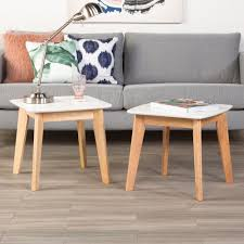 Modern Furniture Company by Walker Edison Furniture Company Retro Modern White And Natural End