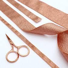copper ribbon gold ribbon by stitchkits notonthehighstreet