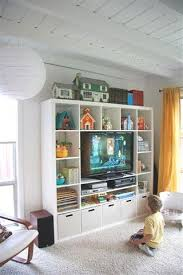 livingroom storage when your living room is your play room apartment therapy