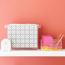 Pink Desk Organizers And Accessories by Acrylic Desktop File The Container Store
