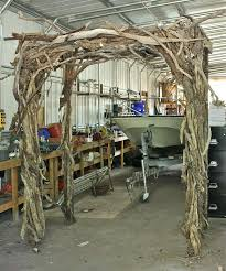wedding arch log wood wedding arch