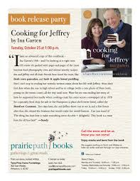 book release party cooking for jeffrey u2014 prairie path books