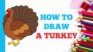 how to draw a turkey in a few easy steps drawing tutorial for