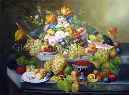 fruit and flowers severin roesen a still with fruit and flowers