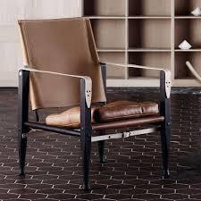 Designer Leather Armchair Carl Hansen U0026 Son Kaare Klint Safari Chair By Kaare Klint Danish