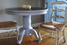 fascinating round distressed kitchen table including antique white