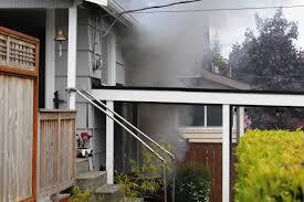 Garage House by Everett Fire Crews Stop Basement Garage Fire From Spreading