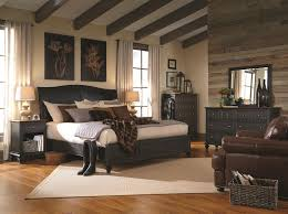 Black Leather Bedroom Sets Decorating Cozy Living Room Design Using Black Leather Sofa By