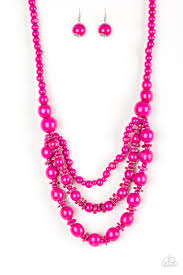 pink beads necklace images Paparazzi rio rainbows pink wood bead necklace sugar bee bling jpg