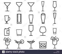 beverage drinks vector thin line symbol icon cocktails party