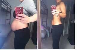 post pregnancy belly wrap postpartum belly 2 days after 12 days after she used